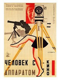 Man With The Movie Camera, Russian Movie Poster, 1929