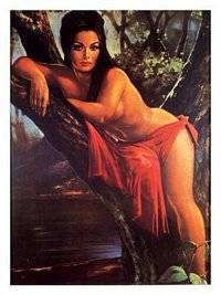 Kitsch Nude, J H Lynch, 1960s Poster