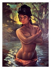 Kitsch Swamp Nude, J H Lynch, 1960s Poster