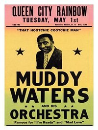 Muddy Waters, Blues Concert Poster 1950s
