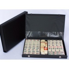 Mahjong Set, Vinyl Case with Counting Sticks 32cm