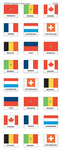 French-speaking countries' flags stickers