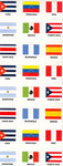 Spanish-speaking countries' flags stickers