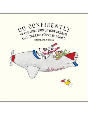 Card - K61 Go Confidently (aeroplane)