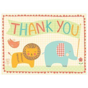 Notecards -Thank YouPlayful Animals pk12 (G0735333956)