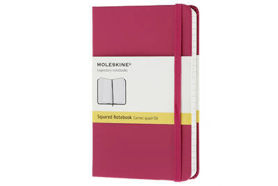 Moleskine Dark Pink Pocket Square Notebook Hard