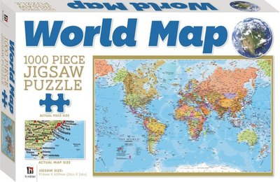 Puzzle World Map 1000 Piece Jigsaw 52981 9781743529812