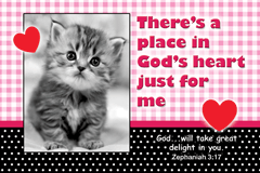 Poster Sml: There's A Place In God's Heart Just For Me 34876