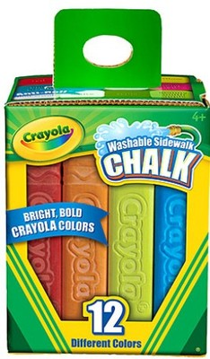Sidewalk Chalk Box 12 Colours Pointed Washable Crayola - 04329 - GNS