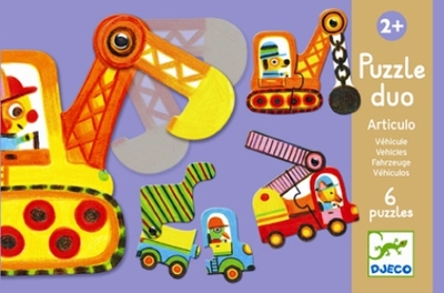 Djeco Articulo Moving Vehicles Puzzle