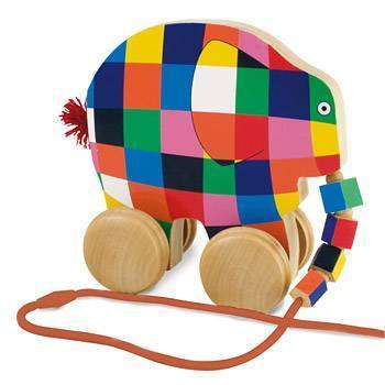 Elmer Wooden Pull-Along Toy
