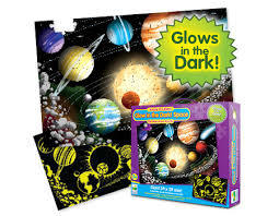 Glow in the Dark! Space 100 Pc Floor Puzzle (Puzzle Doubles!)