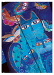 2014 Diary Blue Cats & Butterflies (Week-at-Time Midi Format)