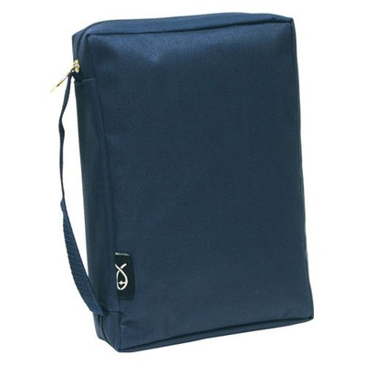 Canvas Bible Cover - Navy  XL