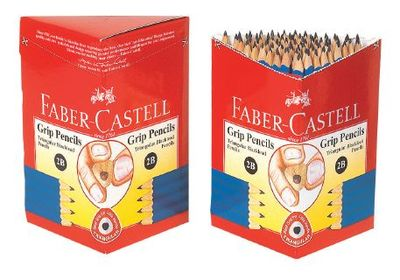 Pencil Junior Grip 2B Triangular Faber Castell (12-116572-2B)