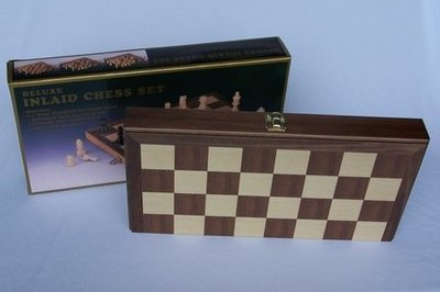 L2020DR Deluxe Inlaid Chess Set 38cm