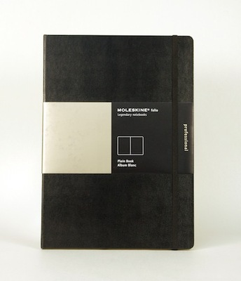 Folio Plain Black A4 Notebook