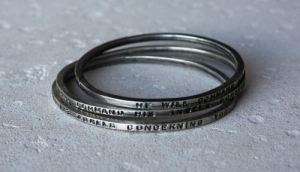 Bangle - He will command his angels concerning you (60mm)