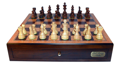 Dal Rossi Red Mahogany Finish chess box ONLY