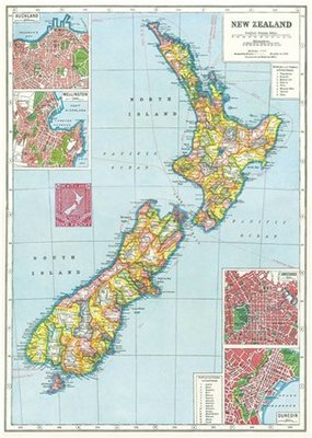 Wrap - New Zealand Map