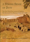 A strong sense of duty : the first world war letters of chaplain the reverend Clive Mortimer Jones 1917-1920