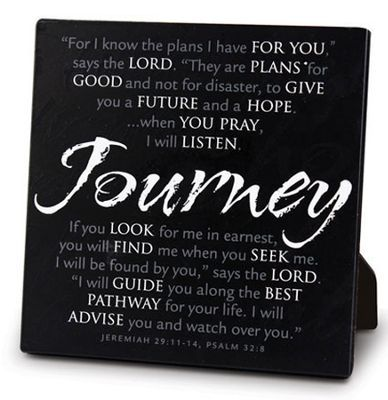 Plaque - Journey Black Metal Jer 29.11, Psalm 32.8