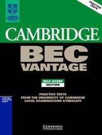 Cambridge BEC Vantage Self Study Practice Tests students book + cassette