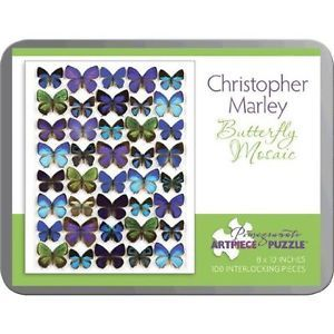 Puzzle Butterfly Mosaic/Christopher Marley 100 Piece Tin