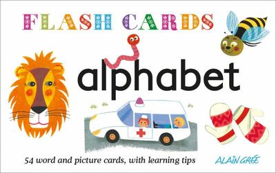 Alphabet: 54 word and picture cards, with learning tips