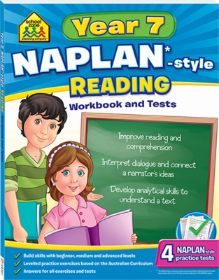 Naplan*-Style Workbook and Tests Year 7 Reading