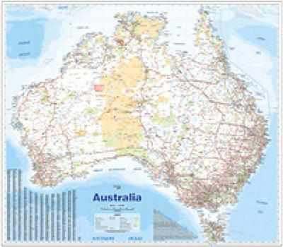 Australia Supermap Laminated Tube