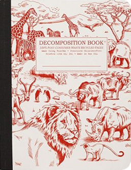 African Safari Large Ruled Decomposition Notebook