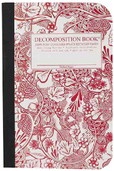 Wild Garden Pocket Ruled Decomposition Notebook