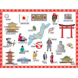 Japan Bulletin Board Set (66 pieces)