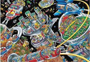 Space Colony 100 Piece Discovery Puzzle
