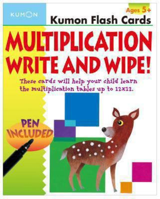 Multiplication Flashcards Write & Wipe (Kumon)
