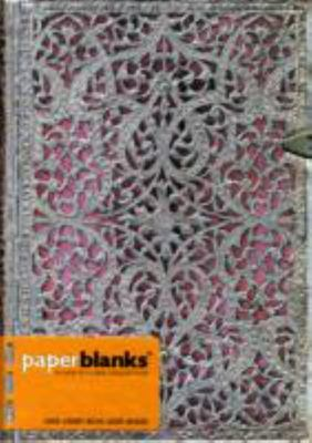 PaperBlanks Silver Filigree: Blush Pink - Paperblanks Journal (Midi Lined)