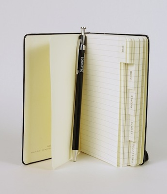 Classic Info Book Black Pocket Notebook