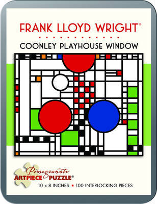 Puzzle Coonley Window/Frank Lloyd Wright 100 Piece Tin