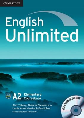 English Unlimited Elementary (A2) Coursebook with e-Portfolio