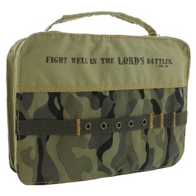 Bible Book Cover Cotton Camouflage Lg