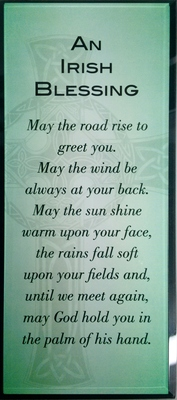 Message in Glass - Irish Blessing