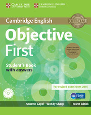 Objective First: Student's Book Pack (Student's Book with answers with CD-ROM and Class Audio CDs(2)) 4ed