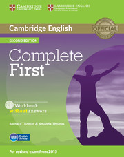 Complete First: Workbook without answers with Audio CD