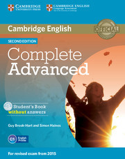 Complete Advanced 2ed: Student's Book without answers with CD-ROM