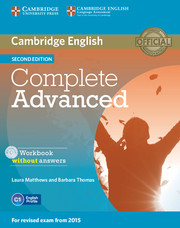 Complete Advanced 2ed: Workbook without answers with Audio CD