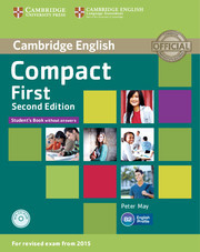 Compact First 2ed: Student's Book without answers with CD-ROM