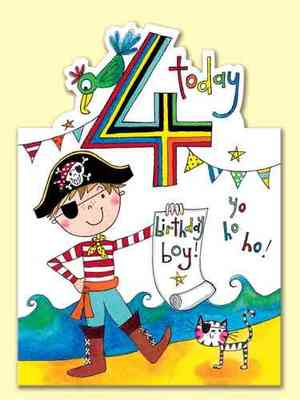 4 Today : Pirate, Cat Card