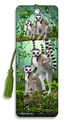 Lemurs 3D Bookmark