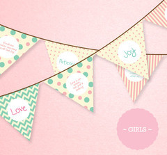 Girls Bunting Flags